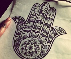 tattoo, hamsa, and art image
