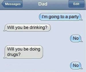 dad, funny, and party image