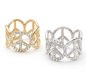 thumb ring, simple ring, and peace ring image