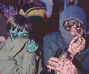 Crystal Castles and grunge image