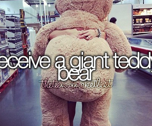 desire, to do list, and giant teddy bear image