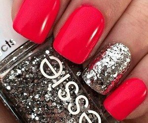 nails, red, and essie image