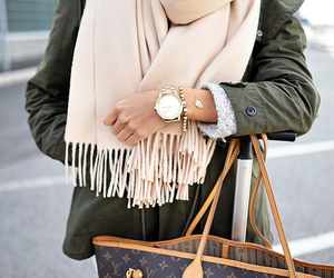 bags, beautiful, and brunette image