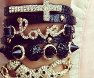 bracelet, fashion, and love image