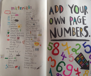 keri smith, materials, and wreck this journal image