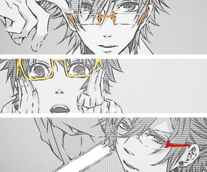 anime, glasses, and monochrome image