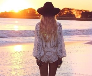 summer, beach, and lace image