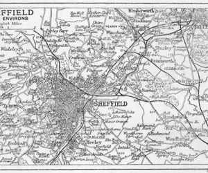 map, sheffield, and england image