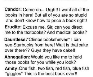 divergent, bookstore, and funny image