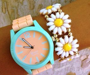 accesories, bracelets, and watch image