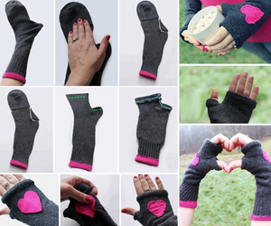 diy, gloves, and socks image