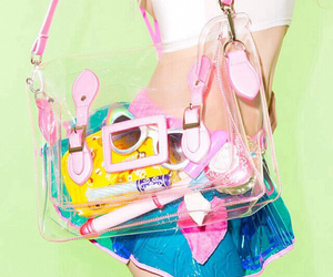 cute, bag, and pink image