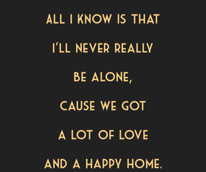 family, happy home, and Lyrics image