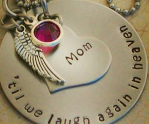 mom, necklace, and myangel image