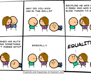 cyanide and hapiness, yolo, and face image