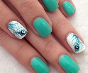feather, nail art, and peacock image