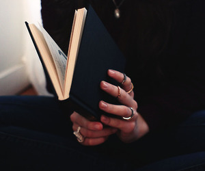 book, black, and rings image