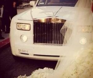 car, wedding, and white image