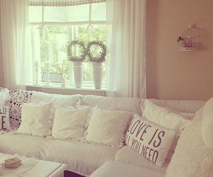 room, white, and living room image