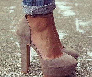 fashion, high heels, and jeans image