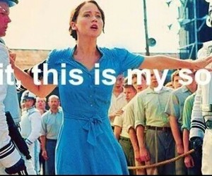 funny, katniss, and my song image