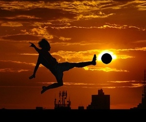 football and sunset image