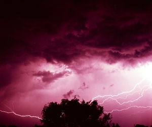 pink, sky, and thunder image