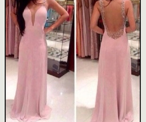 beauty, prom dress, and pink image