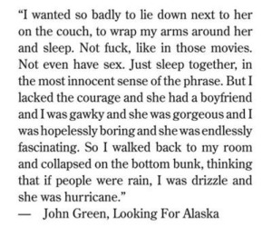 hurricane, john green, and no sex image