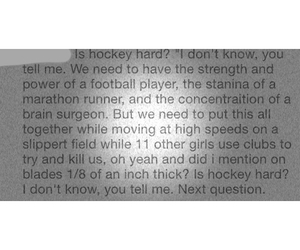 hard, hockey, and quote image