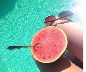 summer, beautiful, and pool image