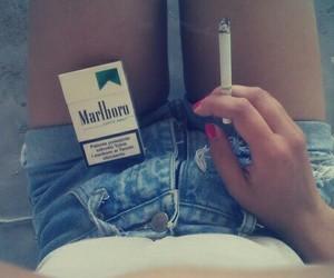smoke, girl, and marlboro image