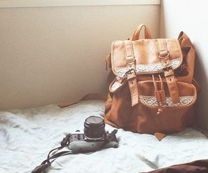 camera, bag, and photography image