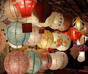 japanese, lantern, and traditional image