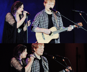 demi lovato, ed sheeran, and sheemi image