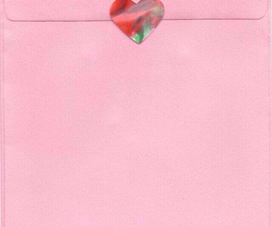pink, heart, and Letter image