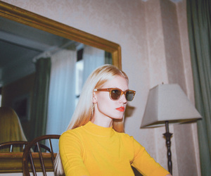vintage, yellow, and sunglasses image