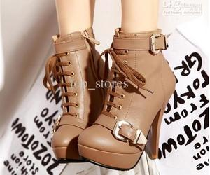 heels, brown, and boots image