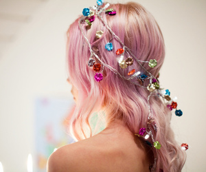 colorful, crown, and jewels image