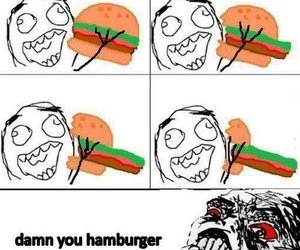 funny and hamburger image