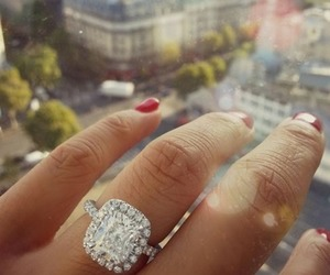 ring, diamond, and city image