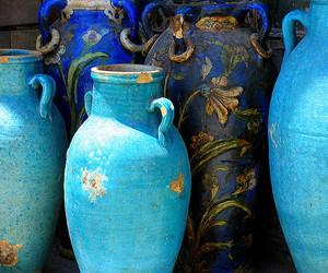 blue and vase image