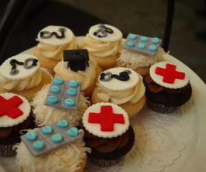 cup cake, doctor, and food image