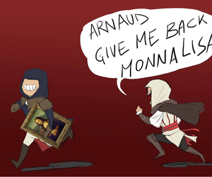 assassin's creed, ezio, and arno image
