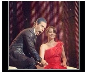 katniss everdeen, detras de escena, and caesar flickerman image