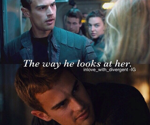 divergent, tris, and love image
