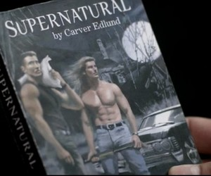 dean winchester, sam winchester, and chuck shurley image