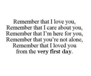 remember, love, and alone image