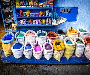 blue, morocco, and colours image