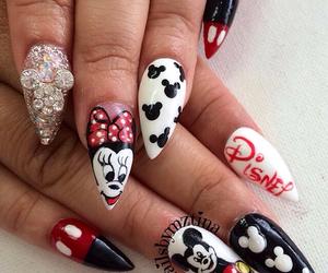 nails, art, and disney image